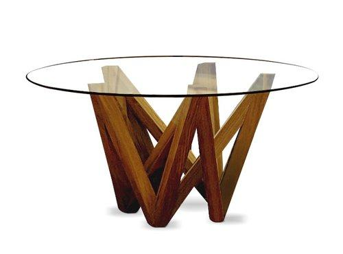 Pine Dining Table Base & Glass - Jordans Home