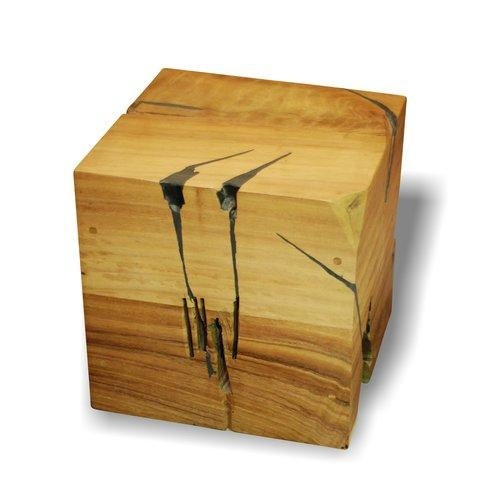 Solid Wood Cube Bank  | Bar Stool | Jordans Home