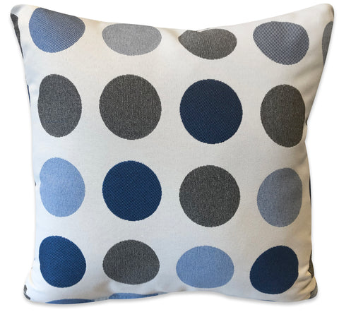 Blue Dots - Patio Pillow