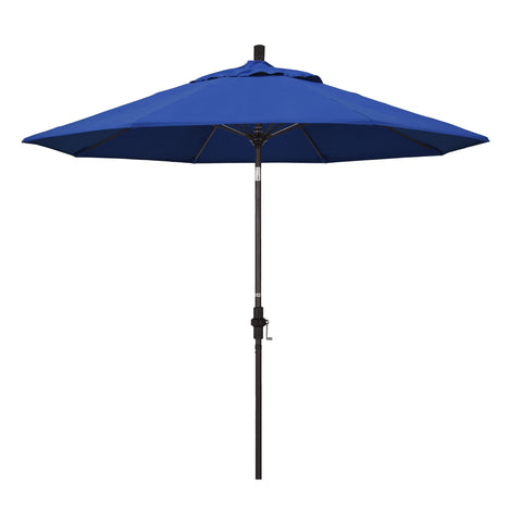 Blue Pacifica Umbrella & Bronze Fiberglass Frame