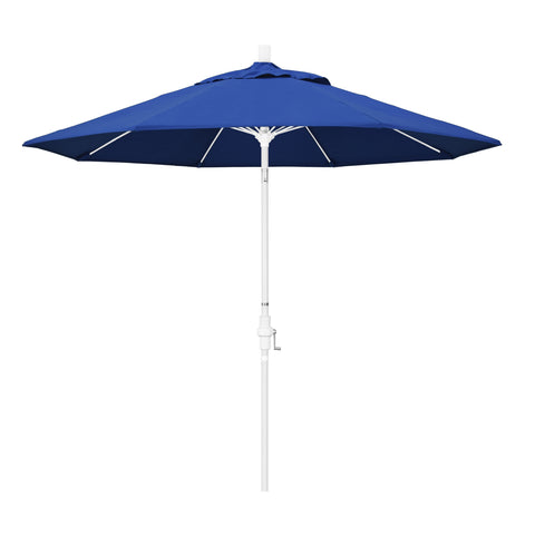 Blue Pacifica Umbrella & White Fiberglass Frame