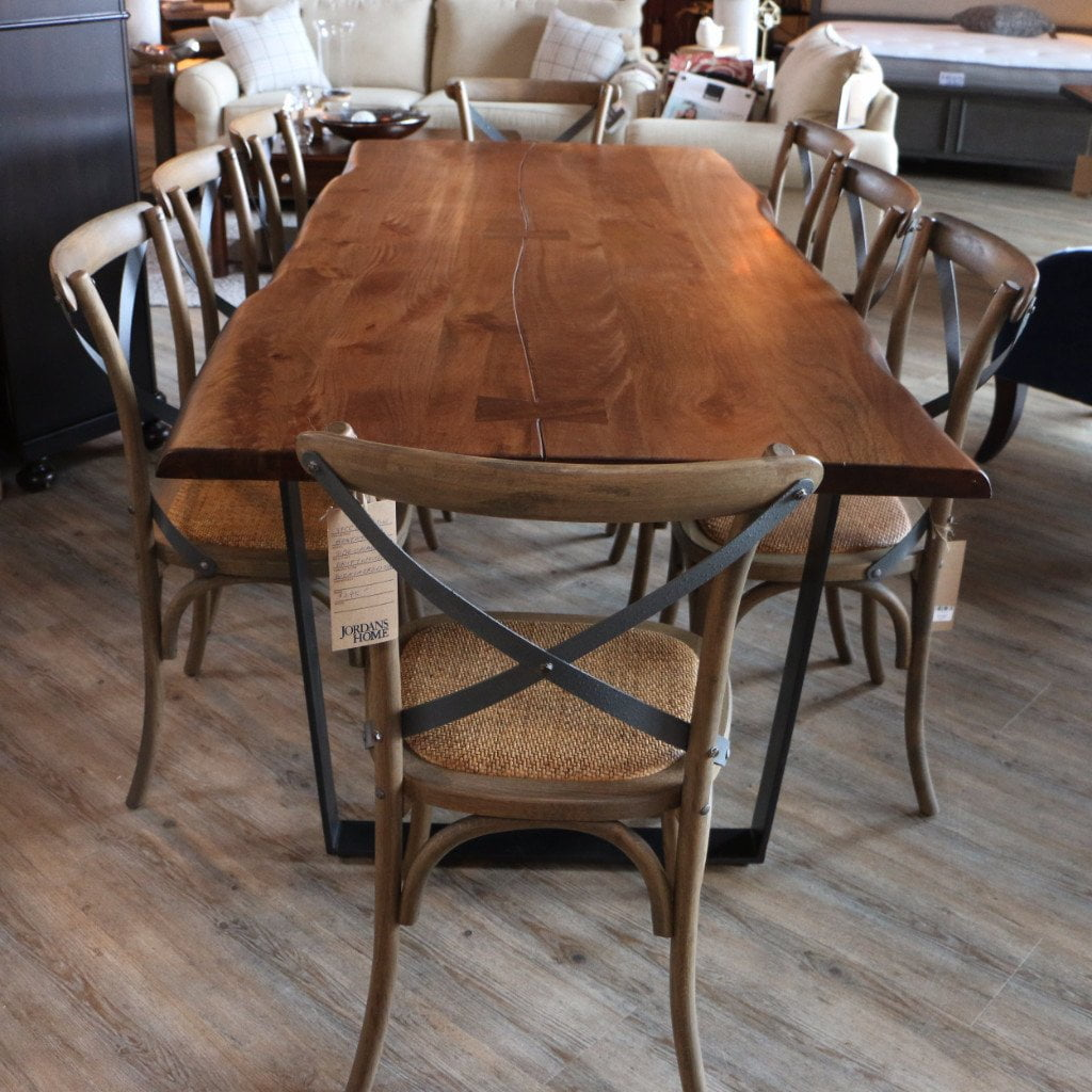 87 Live Edge Dining Table Butterfly Joint Jordans Home