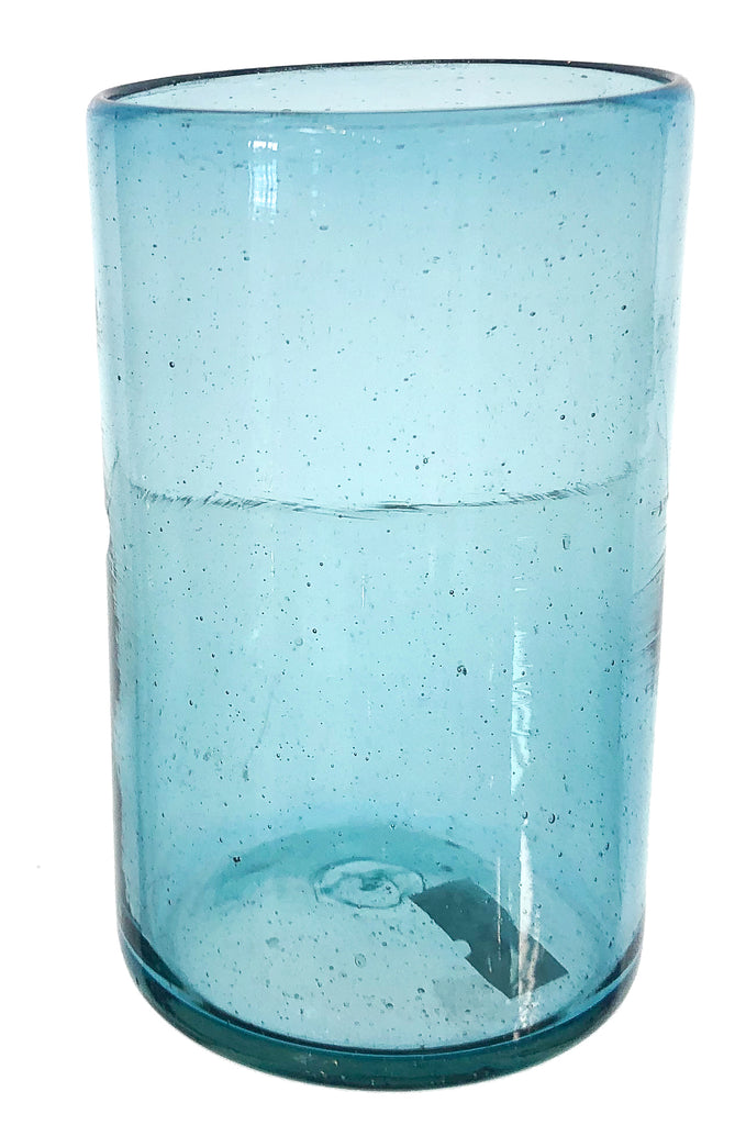 Tall Aqua Glass