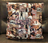 Magazine Cover Fabric Toss Pillow - Jordans Home