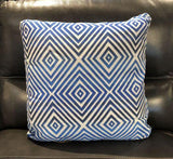 Gradient Blue Fabric Toss Pillow