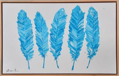 Painting of Turquoise Feathers - Jordans Home
