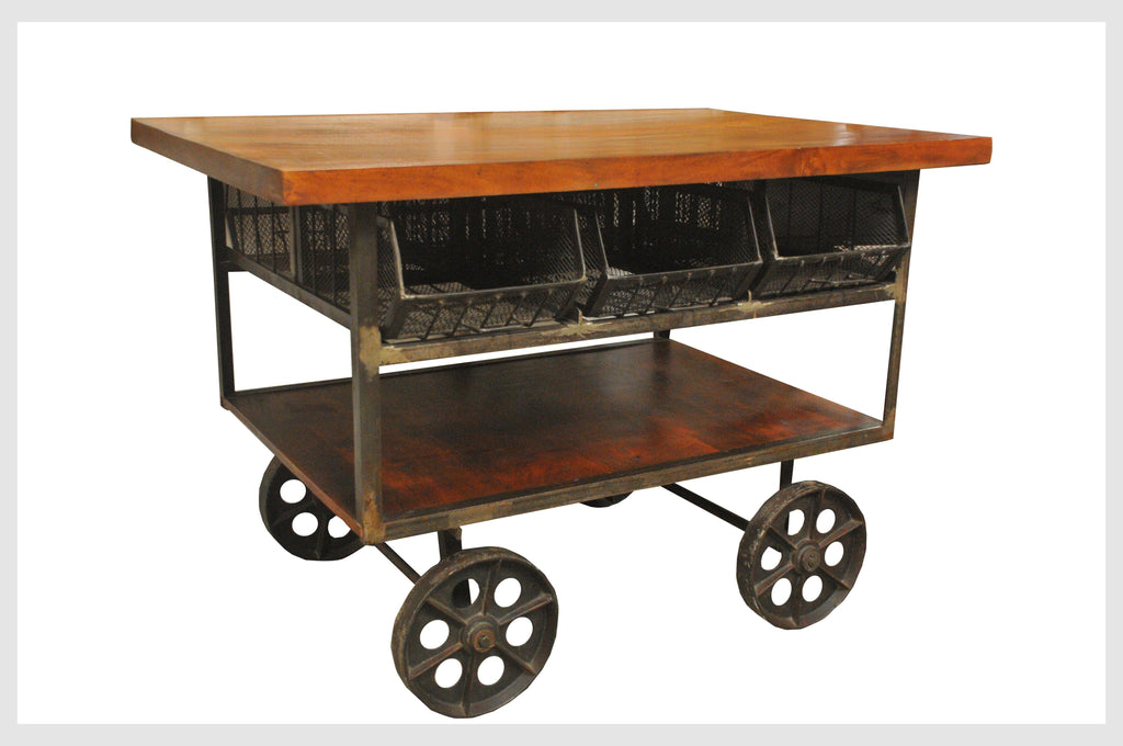 Industrial Iron Trolley - Jordans Home