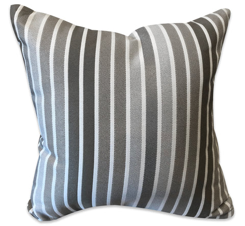 Grey Stripes - Patio Pillow