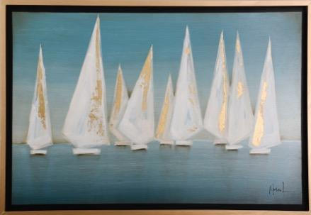 Painting of Sailboats - Jordans Home