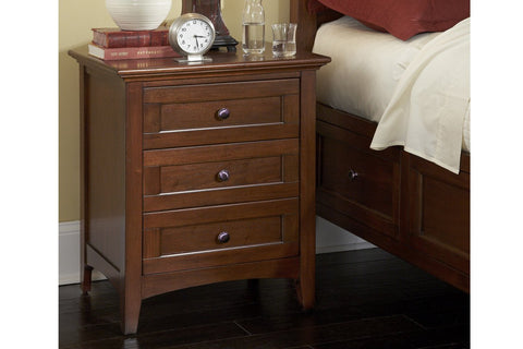 West Lake Night Stand Cherry Brown  | Night Stand | Jordans Home