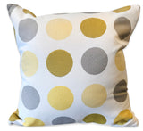 Yellow Dots - Patio Pillow