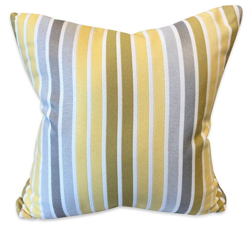 Yellow Stripes - Patio Pillow