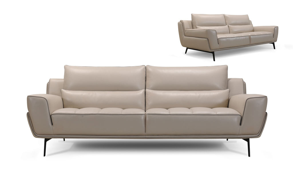 Upholstered Leather Sofa