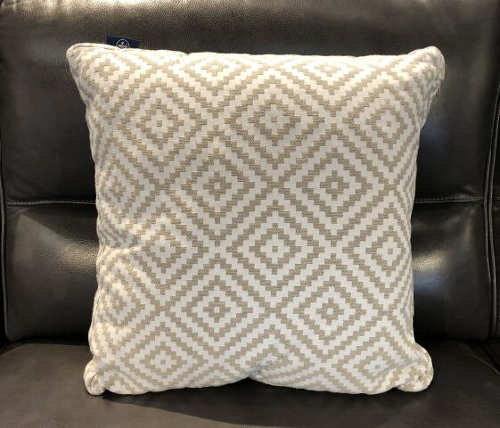 Grey Rhombus Tiles Fabric Toss Pillow