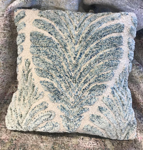 Boho Throw Pillow - Palm Leaf Design