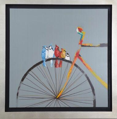 Painting of Bike Birds - Jordans Home