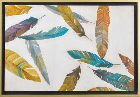 Painting of Colourful Feathers - Jordans Home