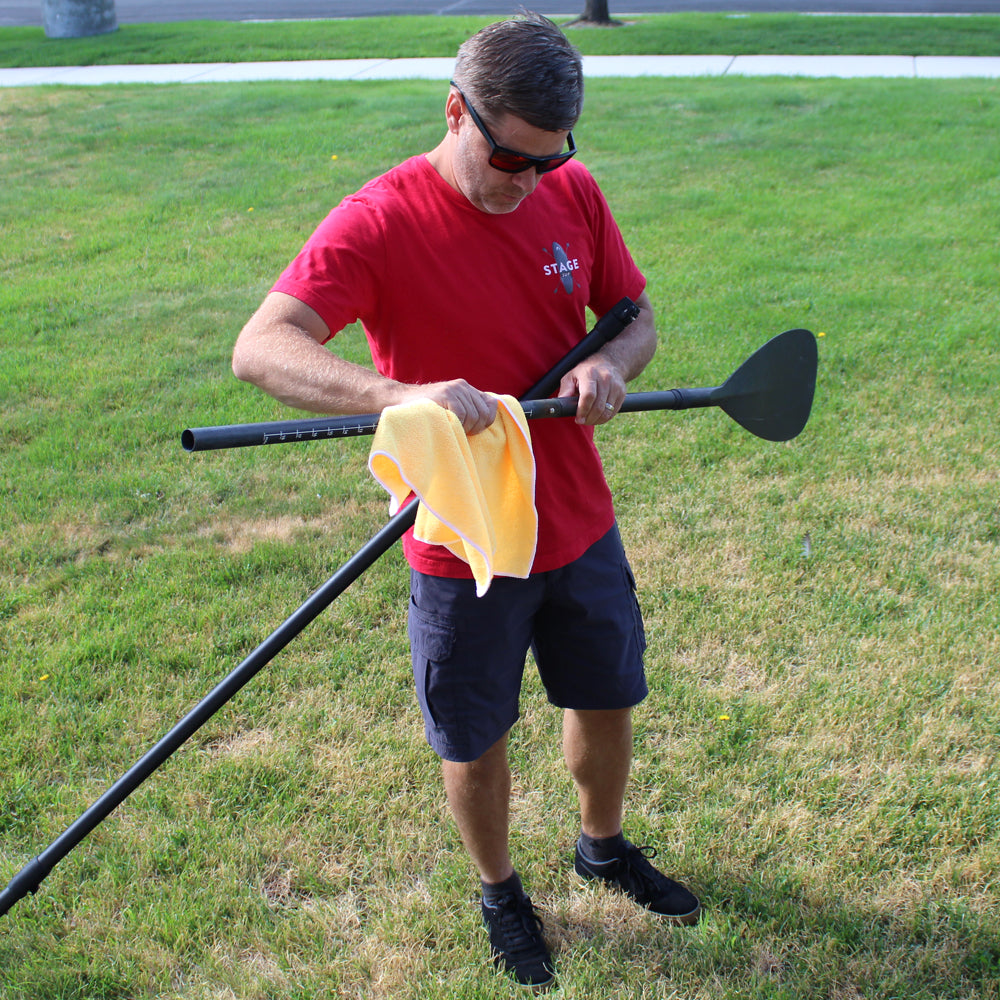 Wipe Down your Double Bladed SUP Paddle After Each Use