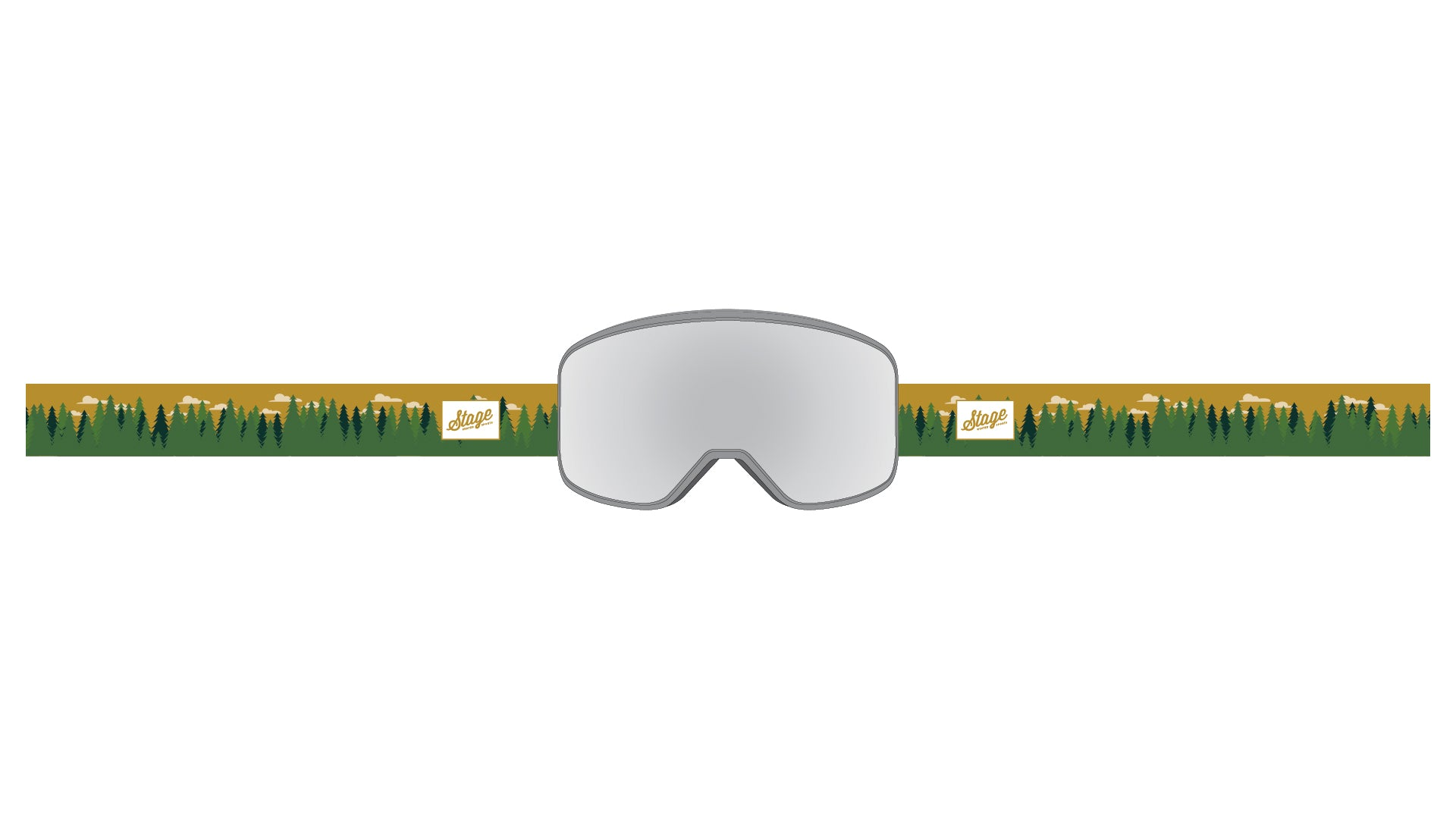 STAGE Prop Goggle - Grey Frame / Mirror Chrome Lens