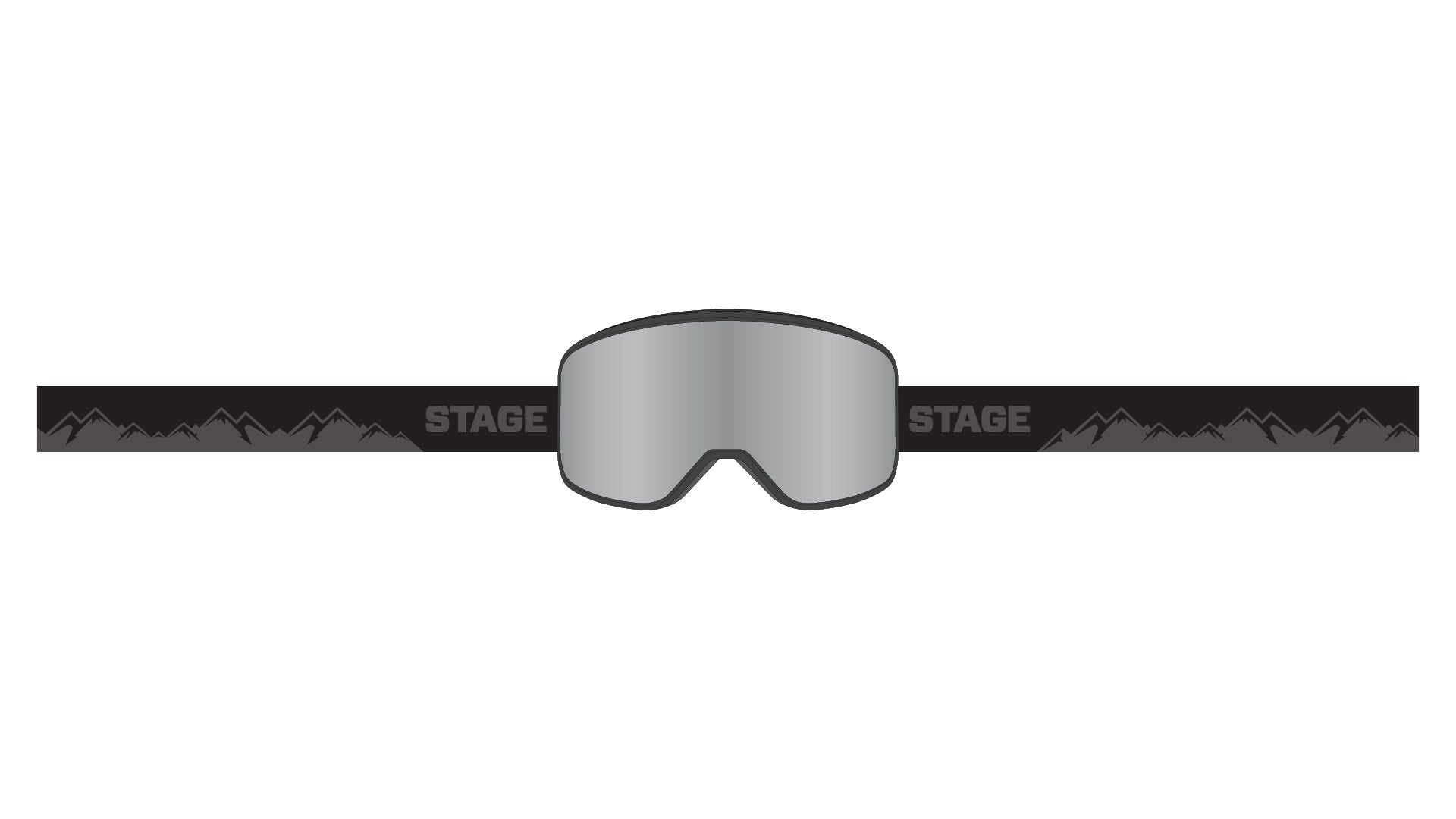 STAGE Prop Goggle - Black Frame / Mirror Chrome Lens