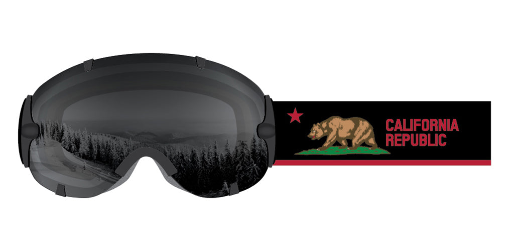 Stunt California Black Goggle