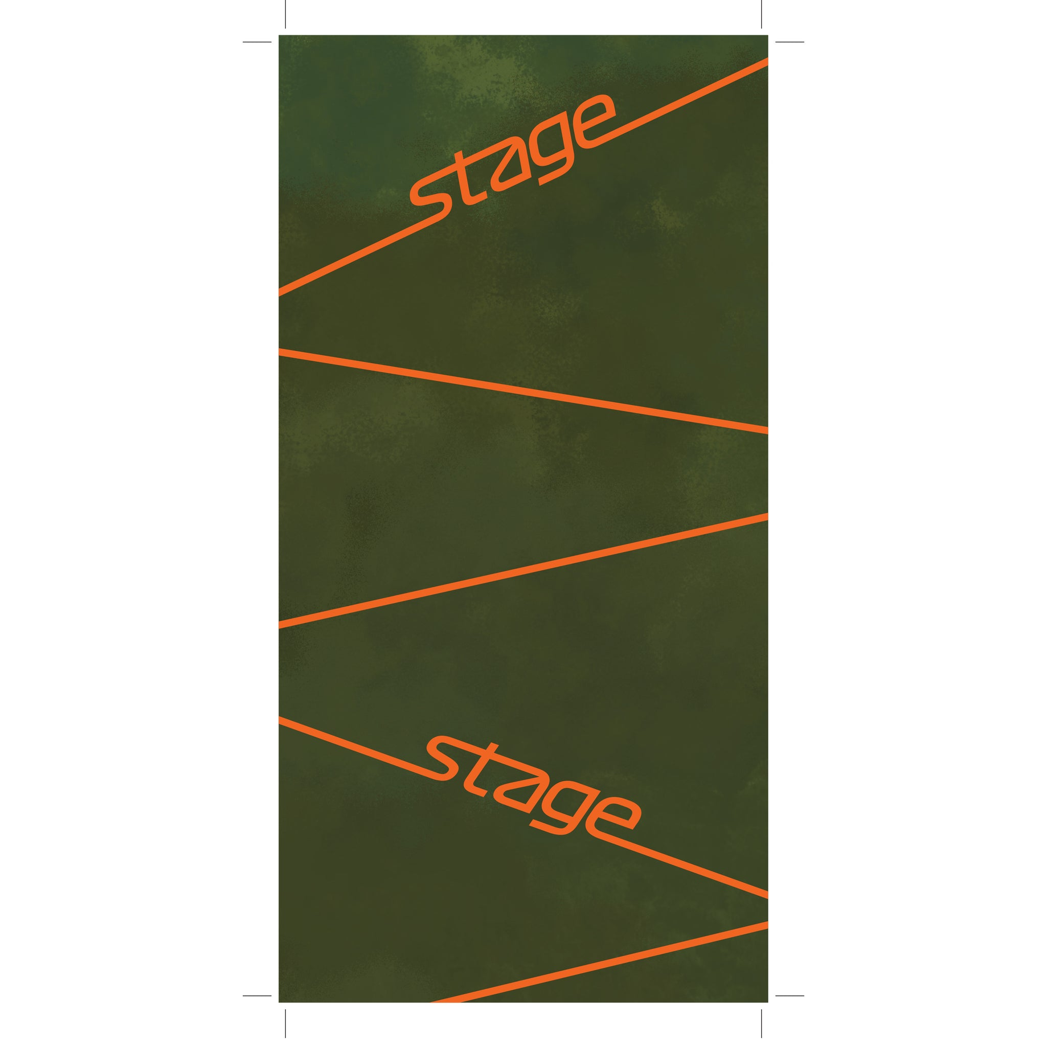 Stage Face Tube - Adult Small Fleece - Hunter