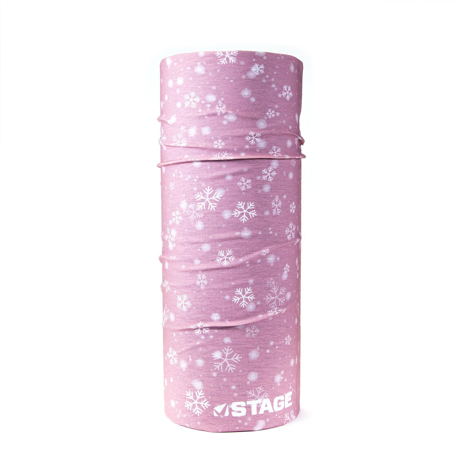 Stage Face Tube - Adult Small Fleece - Pink Snow Flake