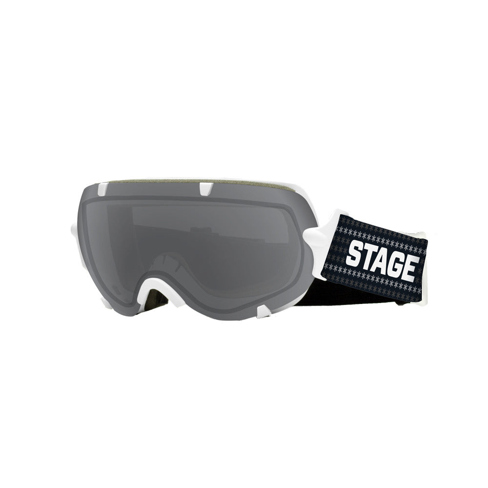 STAGE Youth Stunt BASIC Goggle - White