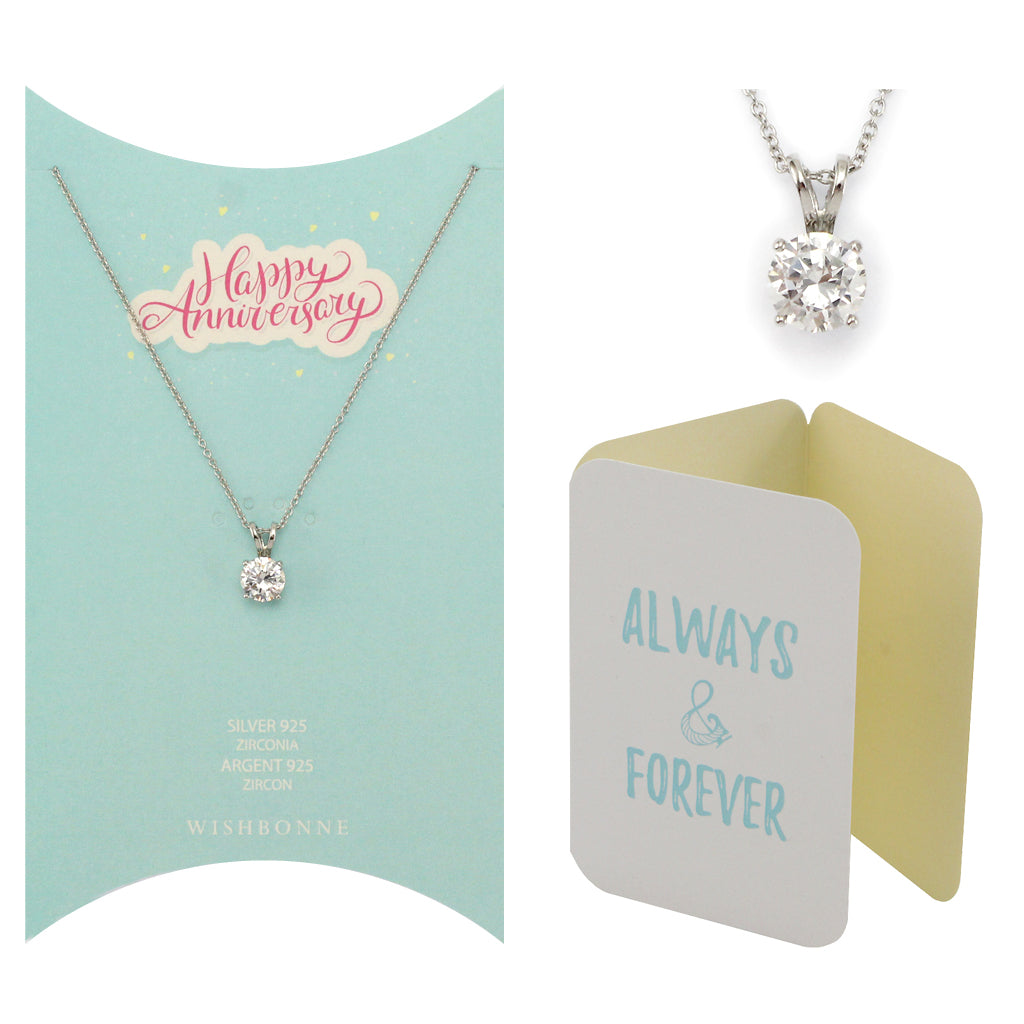 Perfect Gift for Loved One Solitaire Pendant Necklace Message Card Included