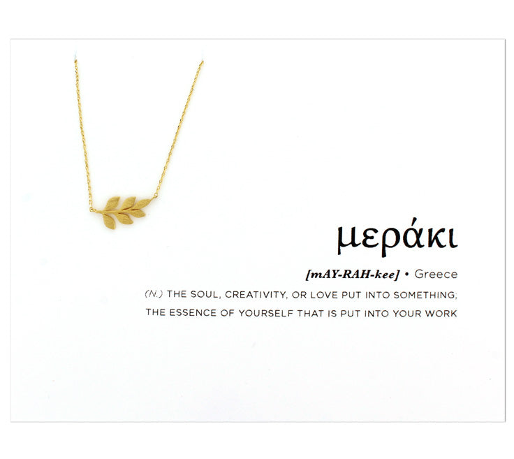 Around the World Collection [GREECE] Leaf Necklace