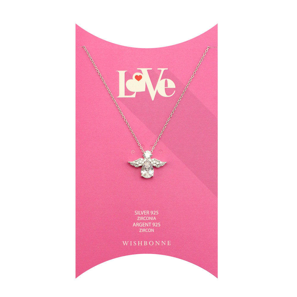 Perfect Gift for Loved One Angel Pendant Necklace Message Card Included