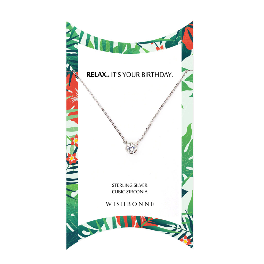 Perfect Gift for birthday Bezel Stone Necklace Message Card Included