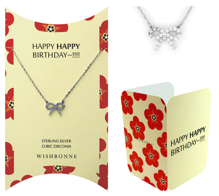 Perfect Gift for birthday Ribbon Necklace with Message Card Included