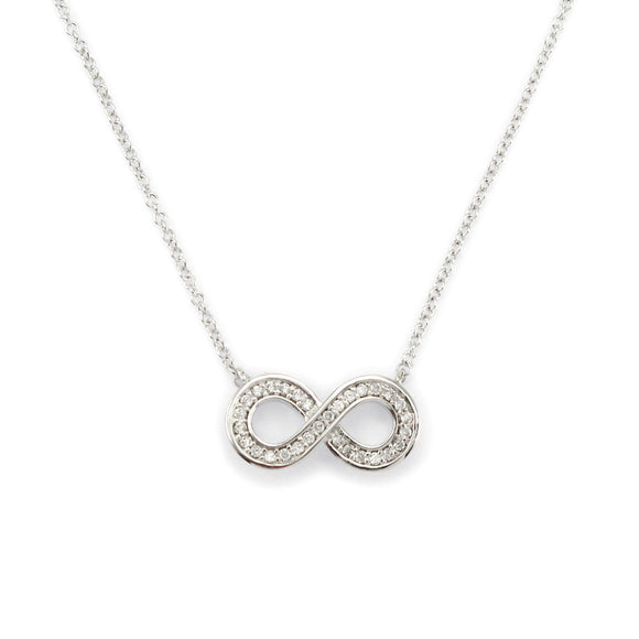 Sterling Silver Infinity Link Pendant Necklace