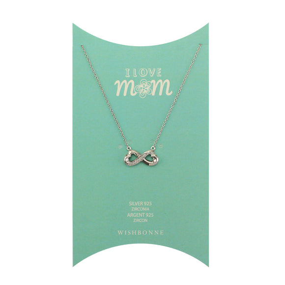 Perfect Gift for Mom Linked Heart Pendant Necklace Message Card Included