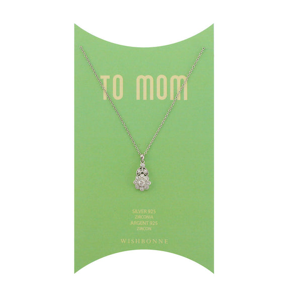 Perfect Gift for Mom Flower Pendant Necklace Message Card Included