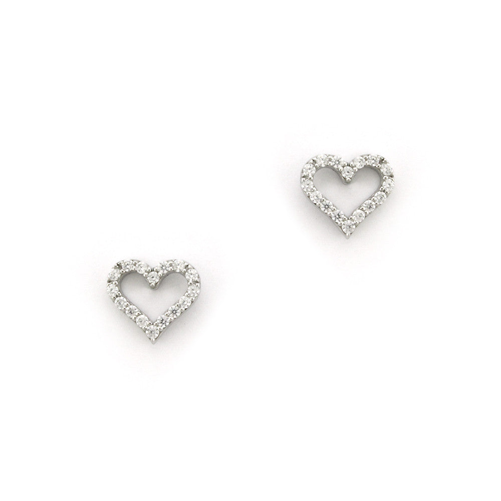 Perfect Gift for Mom Classic Hearts Stud Earrings Message Card Included