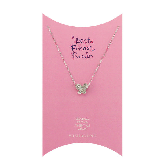 Perfect Gift for anyone Butterfly Pendant Necklace Message Card Included