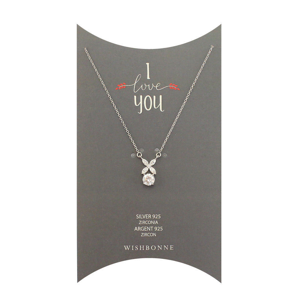 Perfect Gift for Loved One XO Pendant Necklace Message Card Included