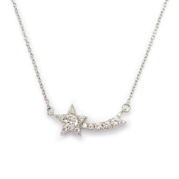 Sterling Silver Shooting Star Pendant Necklace