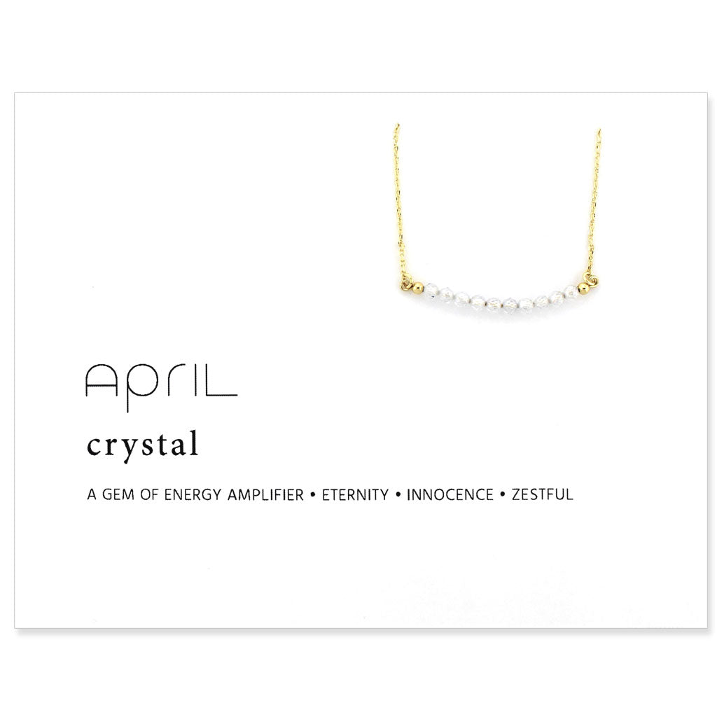 Birthstone Collection [APRIL - crystal]