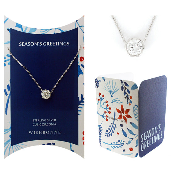 Perfect Gift for the Holidays Large Bezel Necklace Message Card Included