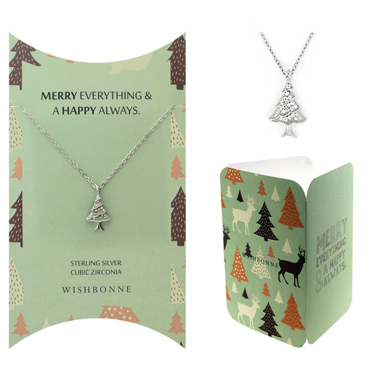 Perfect Gift for Christmas Christmas Tree Necklace Message Card Included
