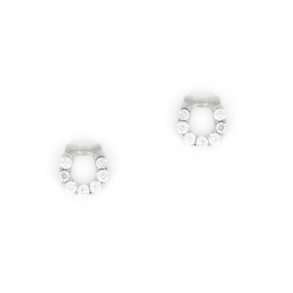 Sterling Silver Holiday Wreath Earrings