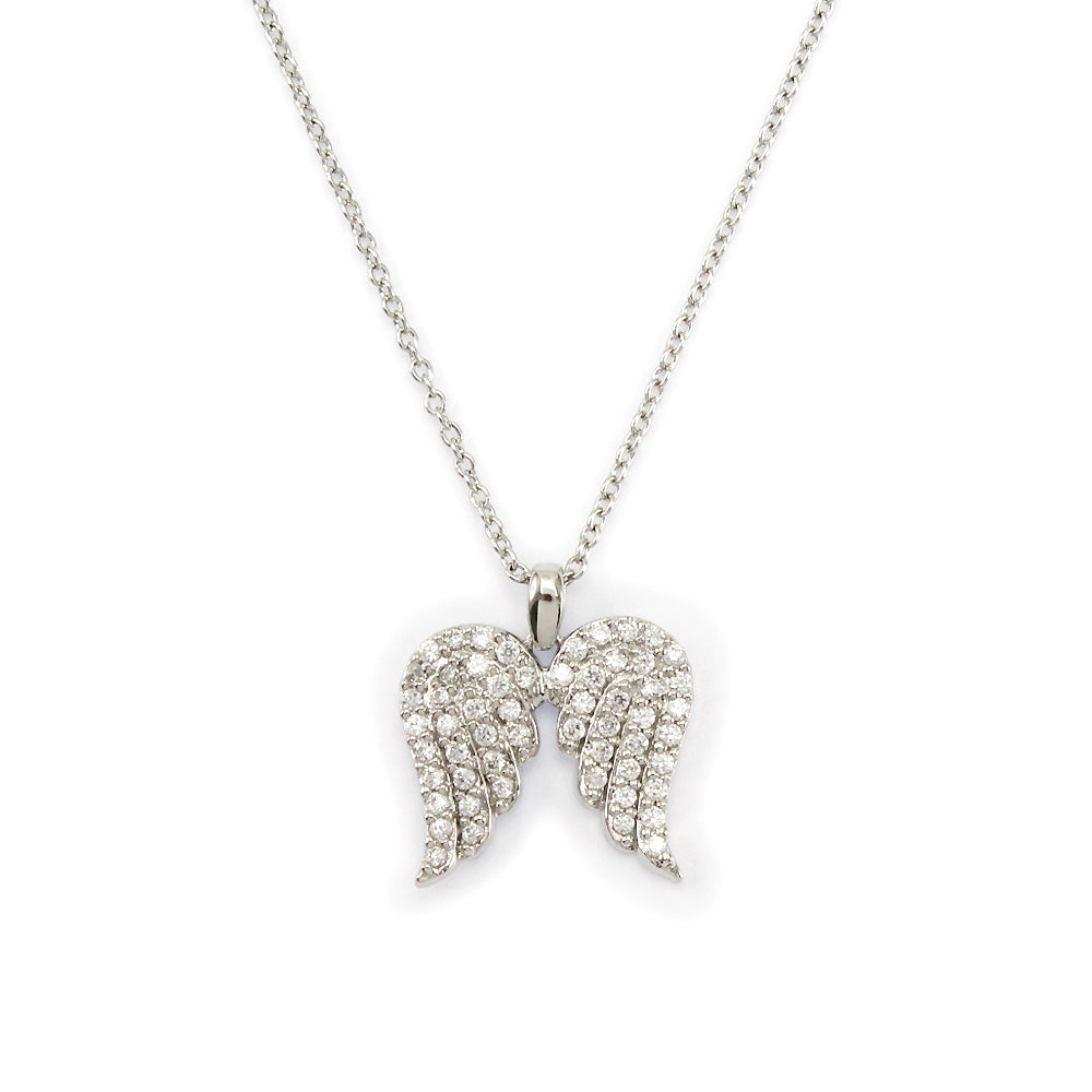 Sterling Silver Holiday Angel Wing Necklace