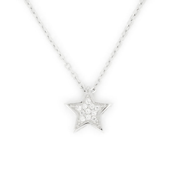 Sterling Silver Holiday Star Necklace