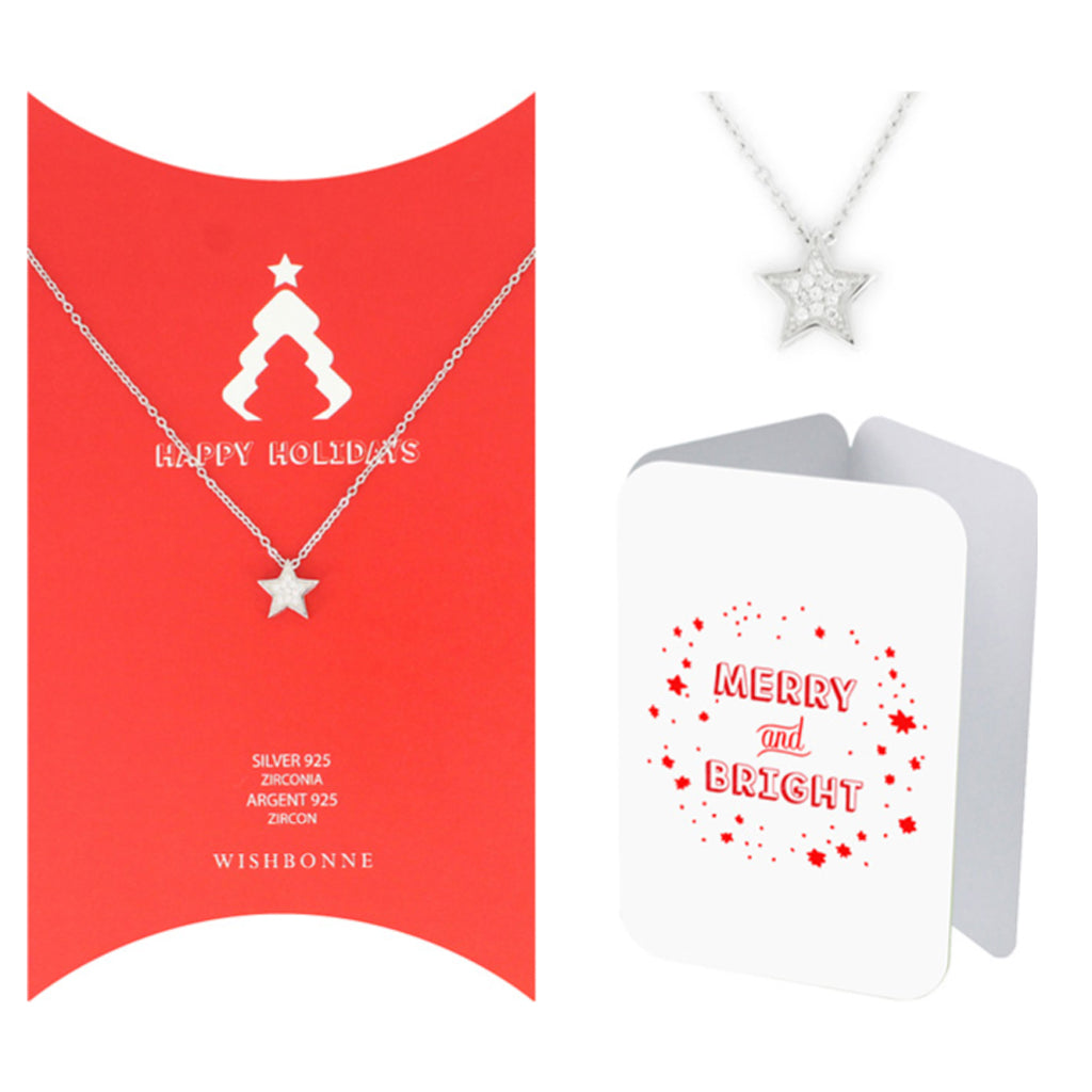 Perfect Gift for Christmas Holiday Star Necklace Message Card Included