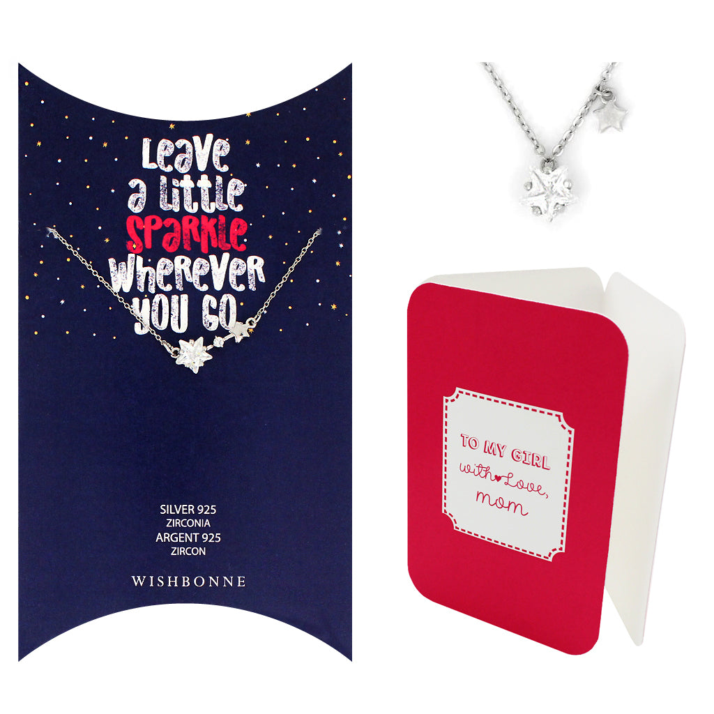 Perfect Gift for Daughter Star Pendant Necklace Message Card Included