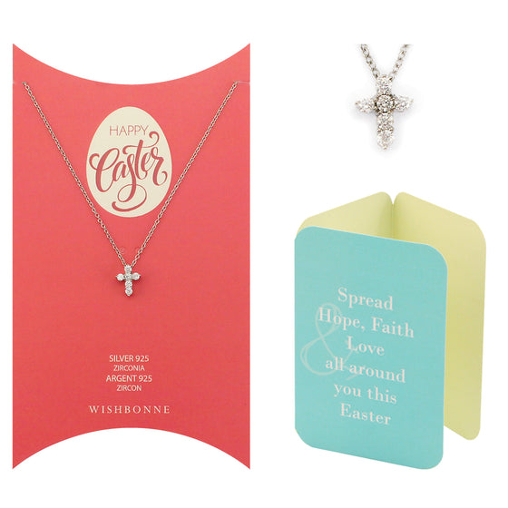 Perfect Gift for Anyone Cross Necklace Message Card Included