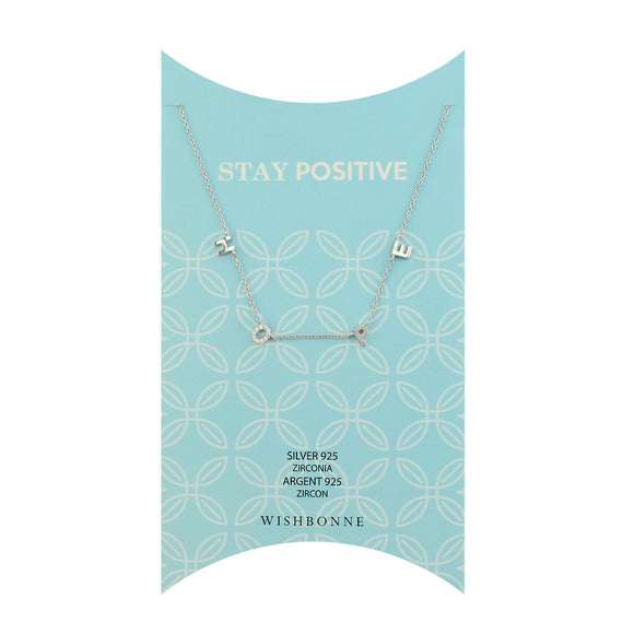 Perfect Gift for Anyone Positivity Pave Stone Necklace Message Card Included